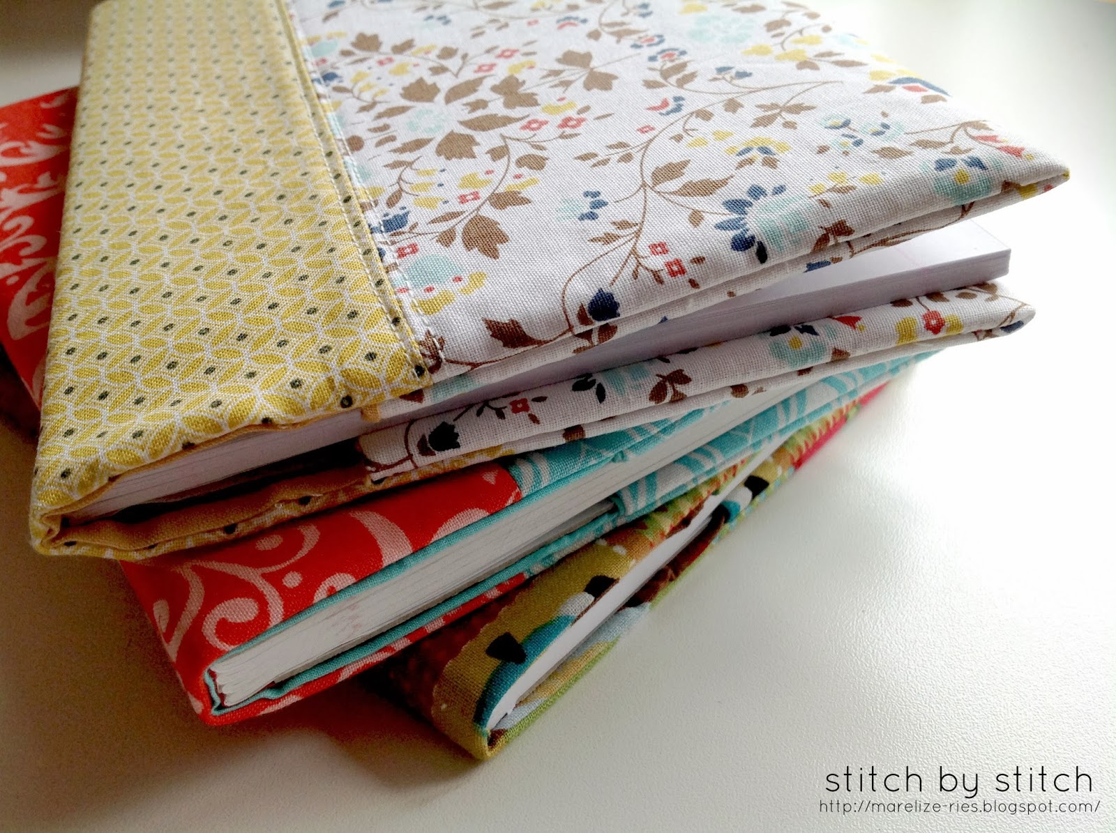 Cloth Book Covers For Textbooks : Stitch by fabric book cover tutorial