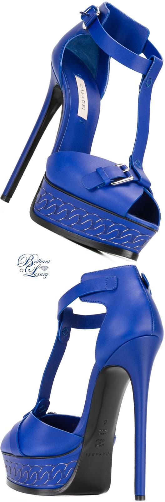 Brilliant Luxury ♦ Casadei Platform Sandals