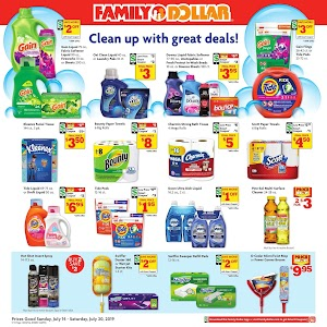 Family Dollar Ad Preview This Week July 21 - 27, 2019