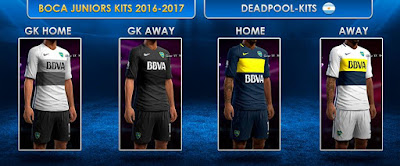 PES 2013 Boca Juniors GDB 2016-17 by DEADPOOL-Kits