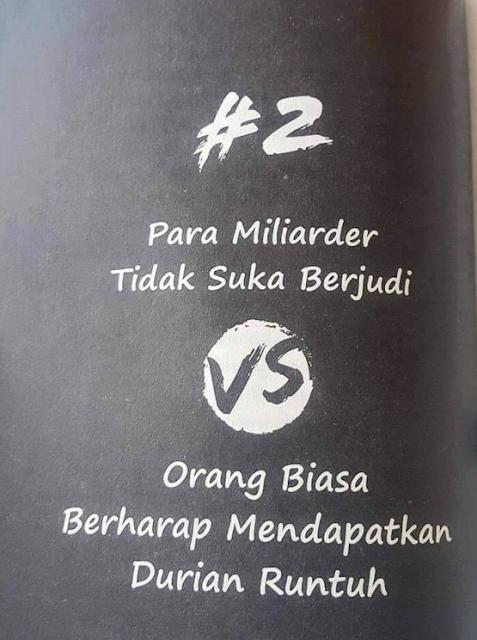 Perbedaan Seorang Miliarder VS Orang Biasa