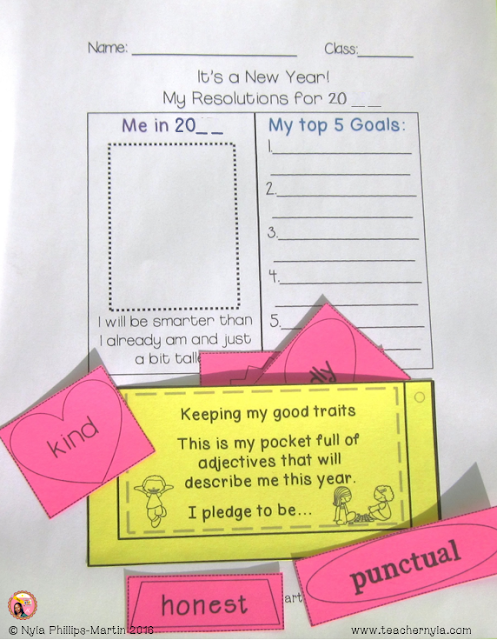 Free New Year resolution Printables