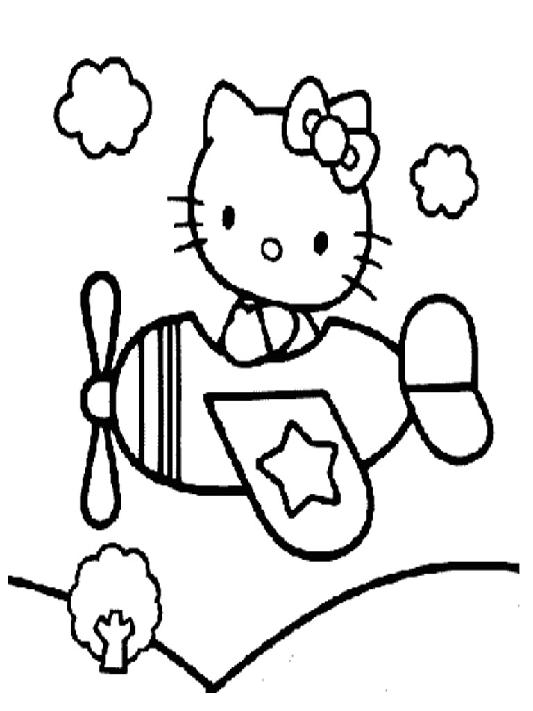 Hello Kitty Coloring Pages Realistic