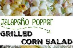 Jalapeño Popper Grilled Corn Salad