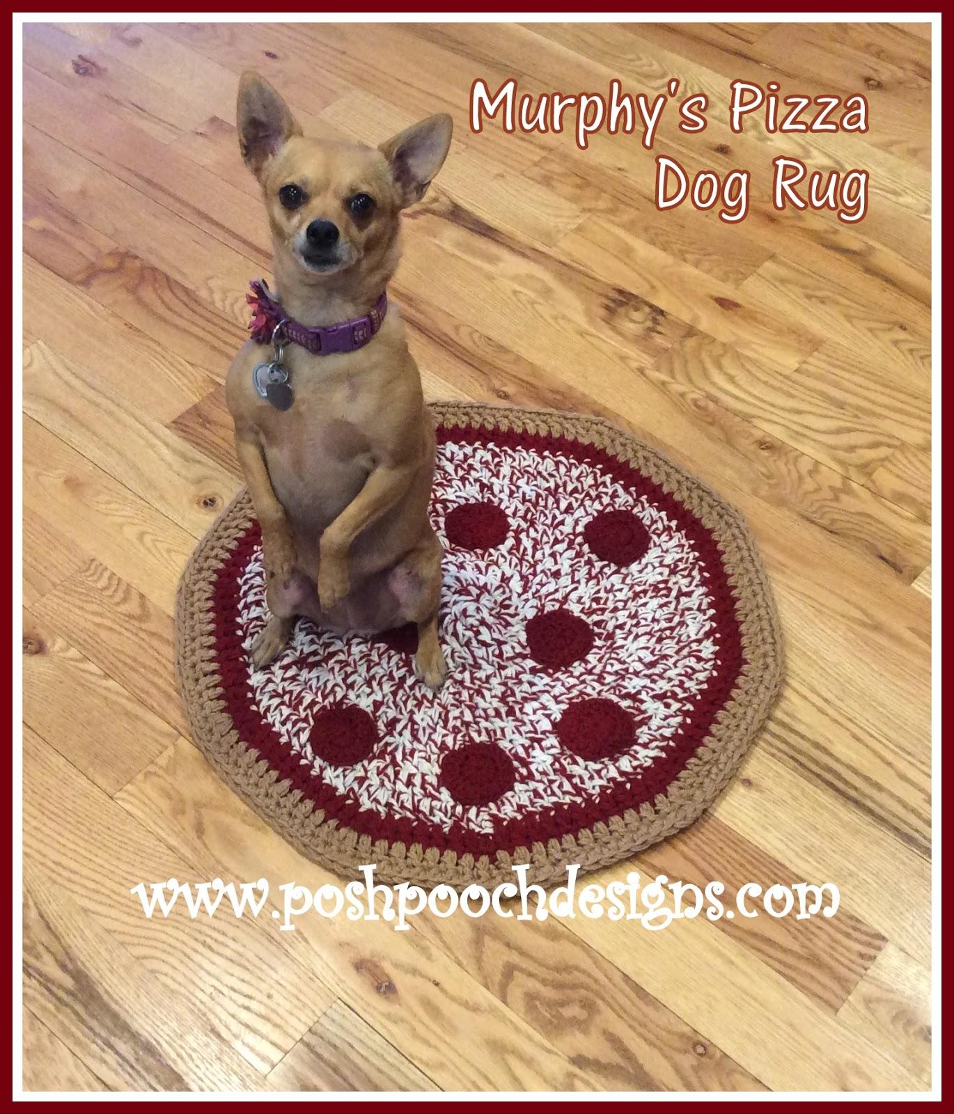 Posh Pooch Designs Dog Clothes: Murphy's Pizza Dog Rug