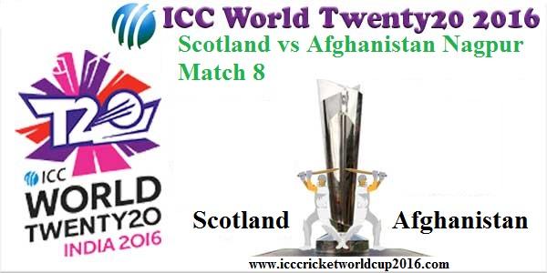 ICC T20 Scotland vs Afghanistan Nagpur Match 2016