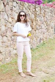 conjunto en rosa blanco pink white
