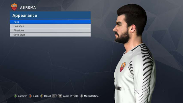 Alisson Becker Face PES 2017