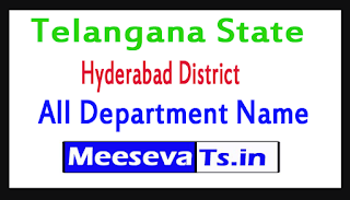 Hyderabad District All Department Name In Telangana State