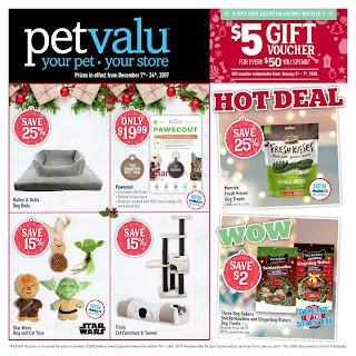 Pet valu Flyer December 7 – 24, 2017