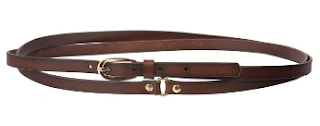 womens brown leather double strap wrap belt for steampunk costume
