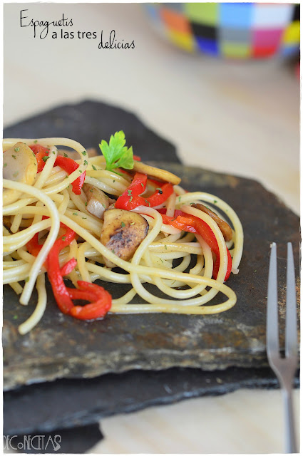 Espaguetis caseros a las tres delicias