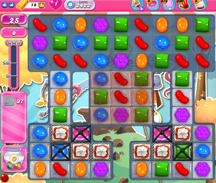 Candy Crush Saga level 2422
