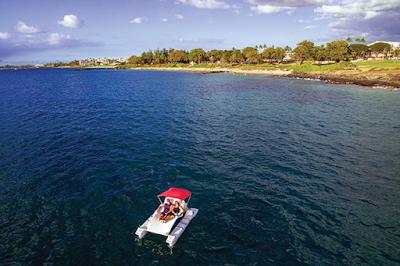 fall boating on a funcat catamaran
