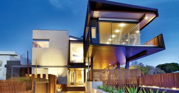 Desain Kantilever Rumah Modern Unik Rancangan Desain Rumah Minimalis