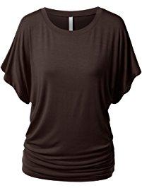 buy urbancleo womens short sleeve dolman drape top shirts