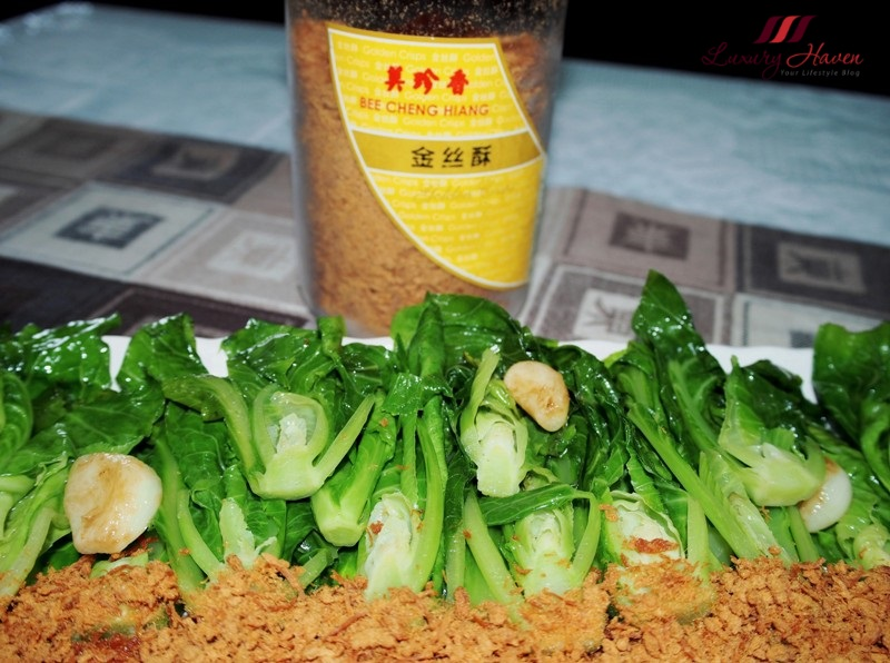 bee cheng hiang pork floss baby kailan recipe