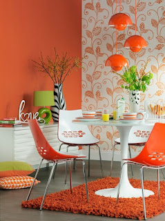 Decoración interior naranja