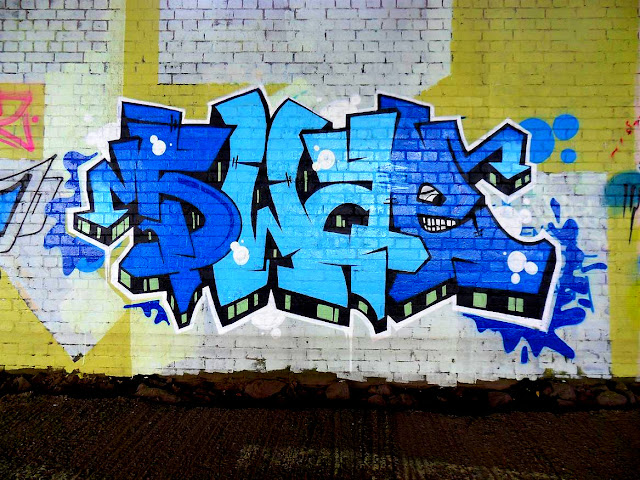swae blue graffiti birmingham photo