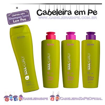 Composição Linha Soul Curly - DO-HA (Shampoo e Ativadores de Cachos liberados para Low Poo)
