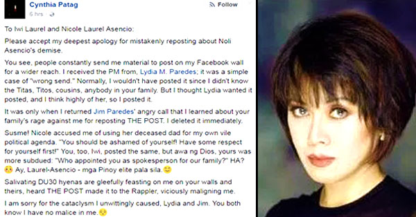 [Trending Now] Cynthia Patag Issues An Apology For Making