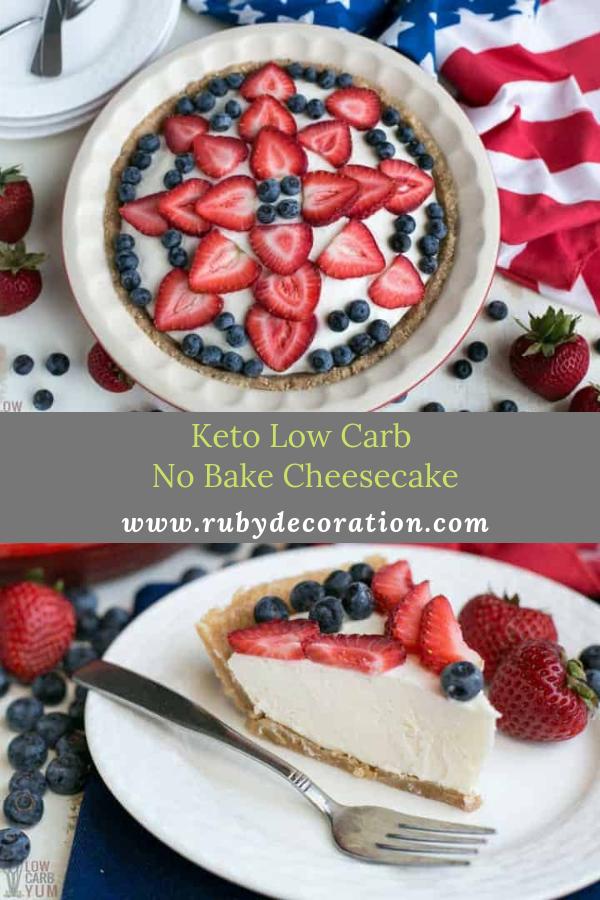 Keto Low Carb No Bake Cheesecake