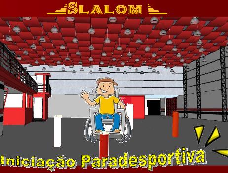 b7a204a4b O Slalom é uma modalidade esportiva realizado em cadeira de rodas (manuais  e elétricas) por indivíduos com paralisia cerebral