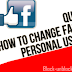 Change My Facebook User name