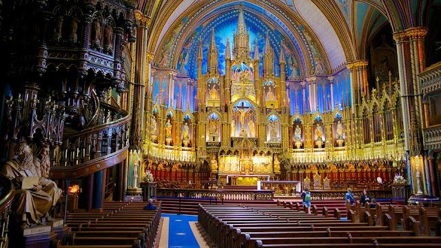 Notre-Dame kilise içi-Montreal