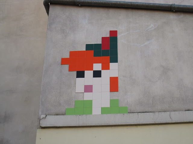 New Wave Of Invasions by Space Invader in Paris, France with Peter Pan and Sonic The Hedgehog. 2