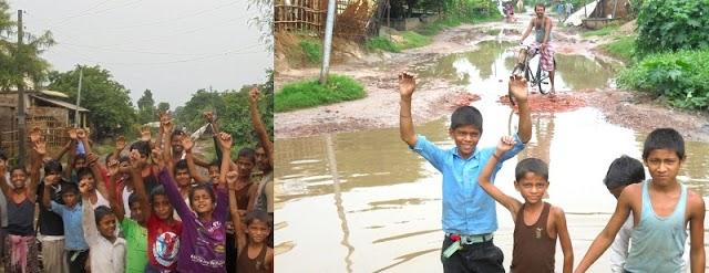 हरलाखी पथ की जर्जरता पर उबले ग्रामीणों ने की पथ जाम