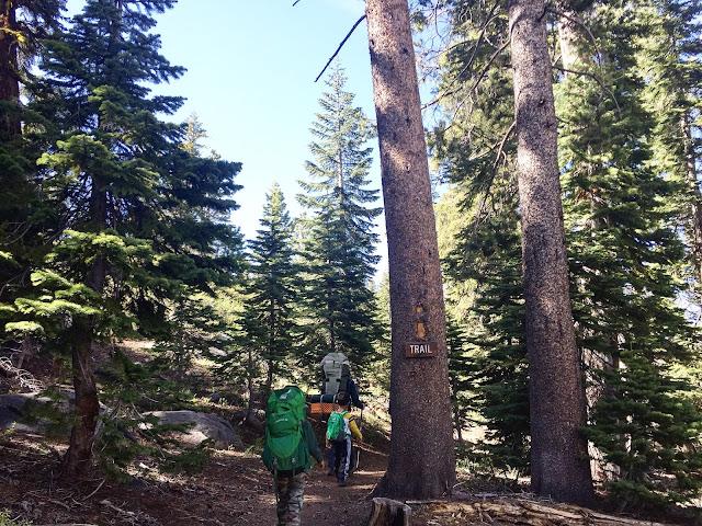 Backpacking Shealor Lake Trail head
