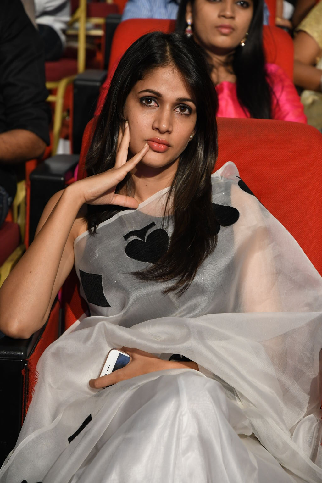 Lavanya Tripathi Stills At Audio Launch In White Saree
