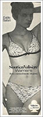 propaganda soutien Valisere - Warner's - 1974; roupa íntima anos 70;Moda anos 70; propaganda anos 70; história da década de 70; reclames anos 70; brazil in the 70s; Oswaldo Hernandez;  Valisere;