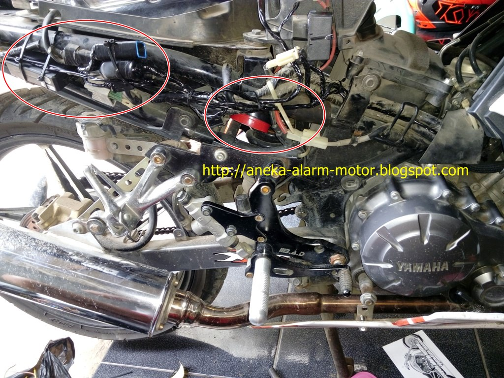 Aneka Alarm Motor: Cara pasang alarm motor remote pada Yamaha Jupiter MX Karbu 135cc