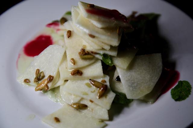 jicama salad, Hartwood restaurant, yucatan, mexico