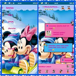 BBM Mod Mickey Mouse V3.2.5.12 Apk