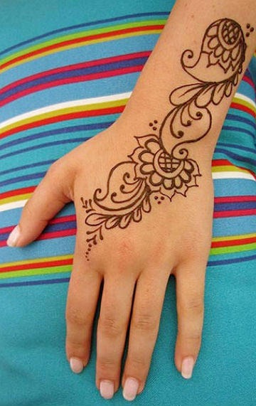 Easy Mehndi Designs For Hands For Kids Simple Mehndi Designs