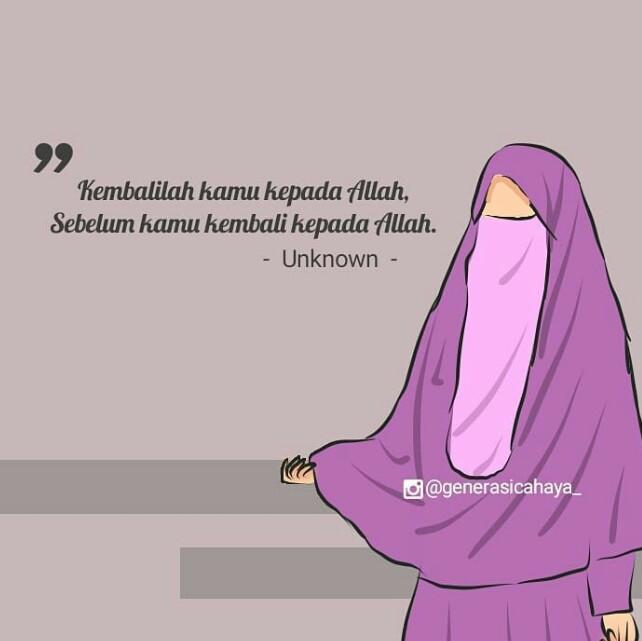 550+ Gambar Kartun Muslimah Bercadar Kata Kata HD Terbaik
