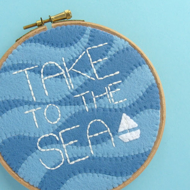 Subscriber Exclusive: TAKE TO THE SEA Hoop Art Tutorial