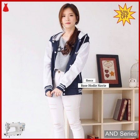 AND369 Jaket Wanita Base Hoodie Biru Navy BMGShop