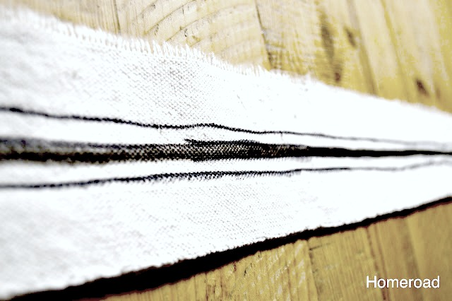 Make your own DIY grain sack ribbon with this easy tutorial