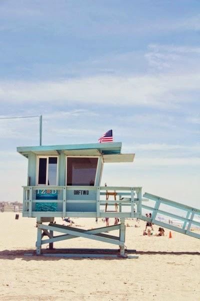 cabine de sauveteur sur Venice Beach