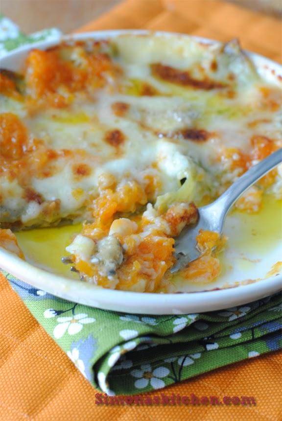 lasagne verdi alla zucca e gorgonzola