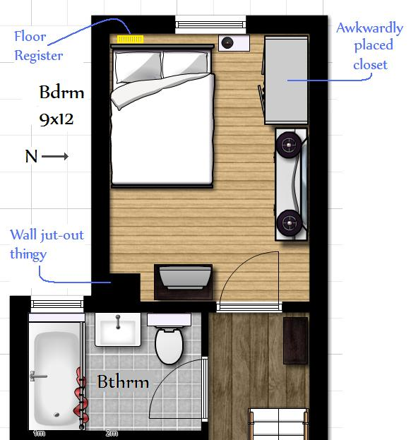 Not A House, But A Home: Wonky Bedroom Layout