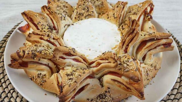 Pan estrella con camembert