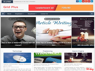 GRID PLUS BLOGGER TEMPLATE