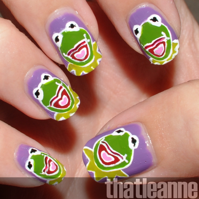 Frog Nail Art: Thatleanne: OPI Muppets Mini Nail Lacquers And Kermit The