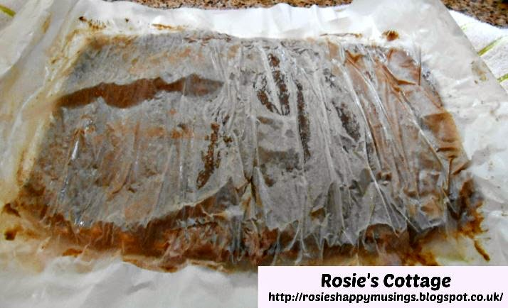 once cooled unroll Swiss Roll sponge