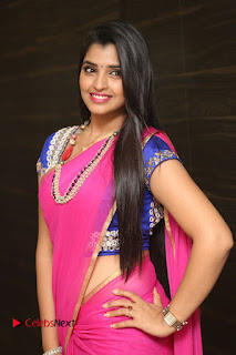 Anchor Shyamala Pictures in Pink Saree at Nandini Nursing Home Audio Launch  0135.JPG